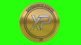 Moneta dorata di filatura di XP dei punti di esperienza illustrazione vettoriale