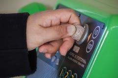 Moneta działający telefon w Japonia Obrazy Stock