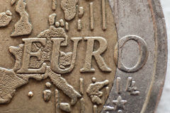 Moneta euro Immagine Stock Libera da Diritti