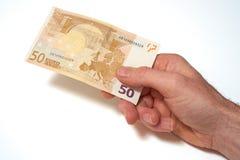 Moneta europea Fotografie Stock