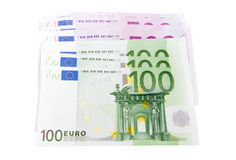 Moneta europea, euro Fotografia Stock