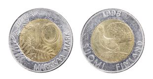 Moneta finlandese Immagine Stock Libera da Diritti