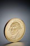 Moneta George Washington del dollaro immagini stock libere da diritti
