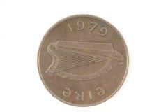 Moneta irlandese 1978 dell'arpa Fotografia Stock Libera da Diritti