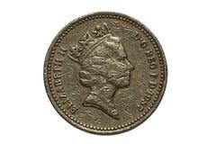 moneta jeden funt Zdjęcie Stock