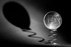Moneta jeden rubel Zdjęcia Royalty Free