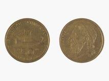 Moneta od Grecja Zdjęcia Stock