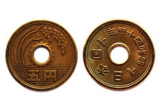 Moneta orientale di stile Fotografia Stock