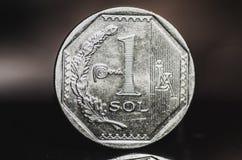 1 moneta peruviana del solenoide di nuevo Fotografia Stock Libera da Diritti