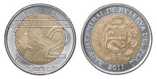 Moneta peruviana delle sogliole fotografie stock libere da diritti