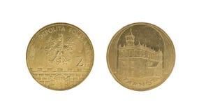 Moneta polacca Immagini Stock