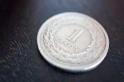 Moneta polacca di zloty Fotografia Stock Libera da Diritti