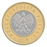 Moneta polacca di zloty 2 Fotografia Stock