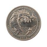 Moneta quarta commemorativa delle isole dell'apostolo Fotografia Stock Libera da Diritti