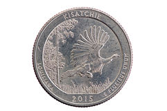 Moneta quarta commemorativa di Kisatchie Fotografia Stock Libera da Diritti
