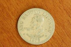 Moneta rara di Ferdinand Marcos dell'annata fotografia stock libera da diritti