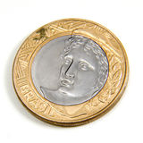 moneta real jeden fotografia stock