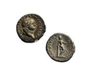 Moneta romana antica Fotografia Stock Libera da Diritti