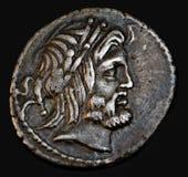 Moneta romana antica Procilius Fotografie Stock