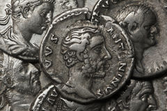 Moneta romana di Diva Faustina Fotografia Stock