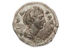 Moneta romana di Diva Faustina Immagini Stock Libere da Diritti