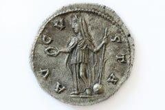 Moneta romana di Diva Faustina Fotografia Stock Libera da Diritti