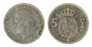 Moneta spagnola Immagine Stock Libera da Diritti