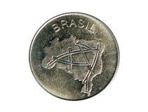 Moneta spessa del Planchet da 10 cruzeiri, la Banca del Brasile Reverse, 1981 Immagine Stock
