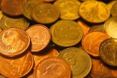 Moneta tailandese di baht, soldi Fotografie Stock Libere da Diritti