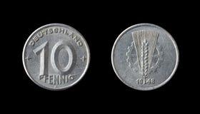 Moneta tedesca Immagini Stock