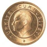 1 moneta turca di kurus Fotografia Stock