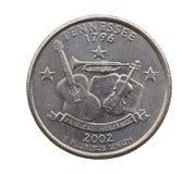 Moneta in un quarto del dollaro americano fotografia stock libera da diritti