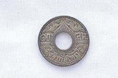 Moneta vecchia rara tailandese Immagini Stock