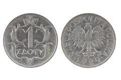 Moneta 1 złoty Polska Fotografia Stock