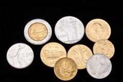 moneta znikający Italy lir obrazy stock