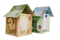 Monetair huis stock foto