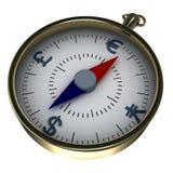 Monetair kompas Royalty-vrije Stock Foto's