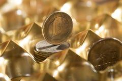 Monetair stelsel en rijkdom stock foto