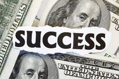 Monetair Succes royalty-vrije stock afbeeldingen