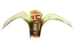 Monetaire financiële en commerciële vogel Stock Foto's