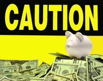Monetaire voorzichtigheid stock fotografie