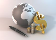 Monetaire wereld Stock Afbeeldingen
