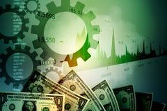 Monetarny pojęcie i targowy analizuje wykres fotografia royalty free