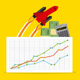 Monetary analysis Stock Image