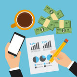 Monetary analysis Stock Images