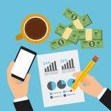 Monetary analysis Stock Images