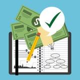 Monetary analysis Royalty Free Stock Image