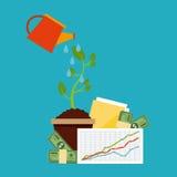 Monetary analysis Royalty Free Stock Photo