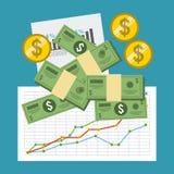 Monetary analysis Stock Photo