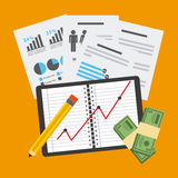 Monetary analysis Royalty Free Stock Photos